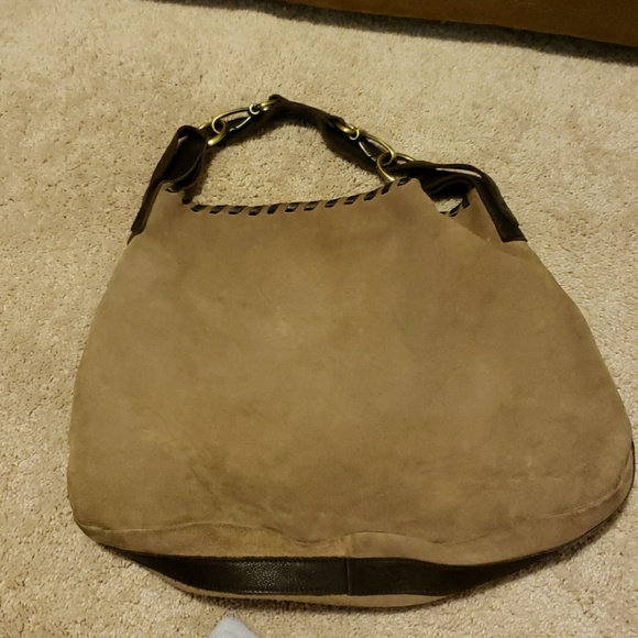 carla marcini Handbags - ⬇️tan suede and laced leather large bag